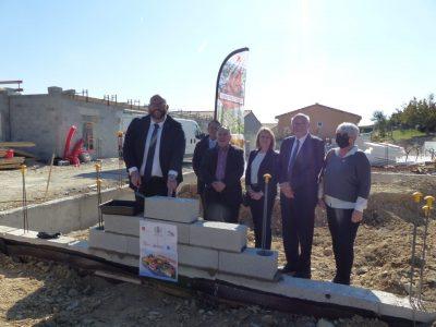 Pose de 1ère pierre pour la résidence Symphonie des Vents à Marsanne : construction DAH